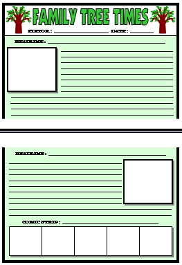 Newspaper Article Template For Children
