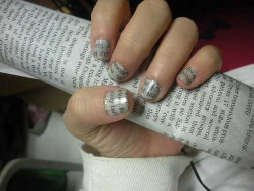 Newspaper Nails Without Rubbing Alcohol